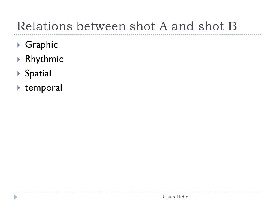 Relations between shot A and shot B