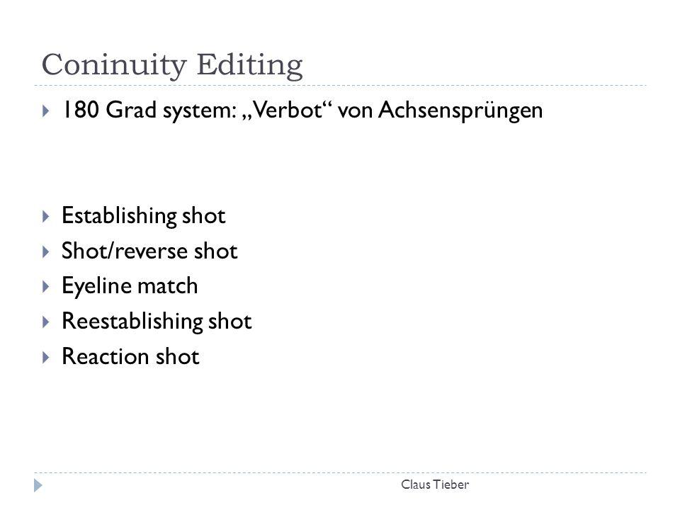 """Coninuity Editing 180 Grad system: """"Verbot von Achsensprüngen"""