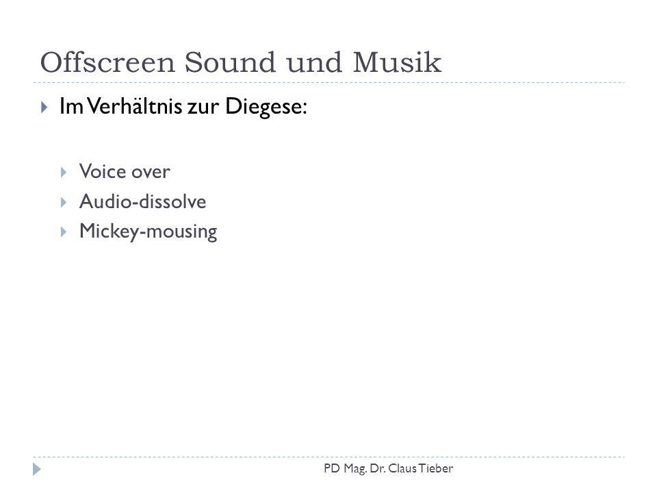 Offscreen Sound und Musik