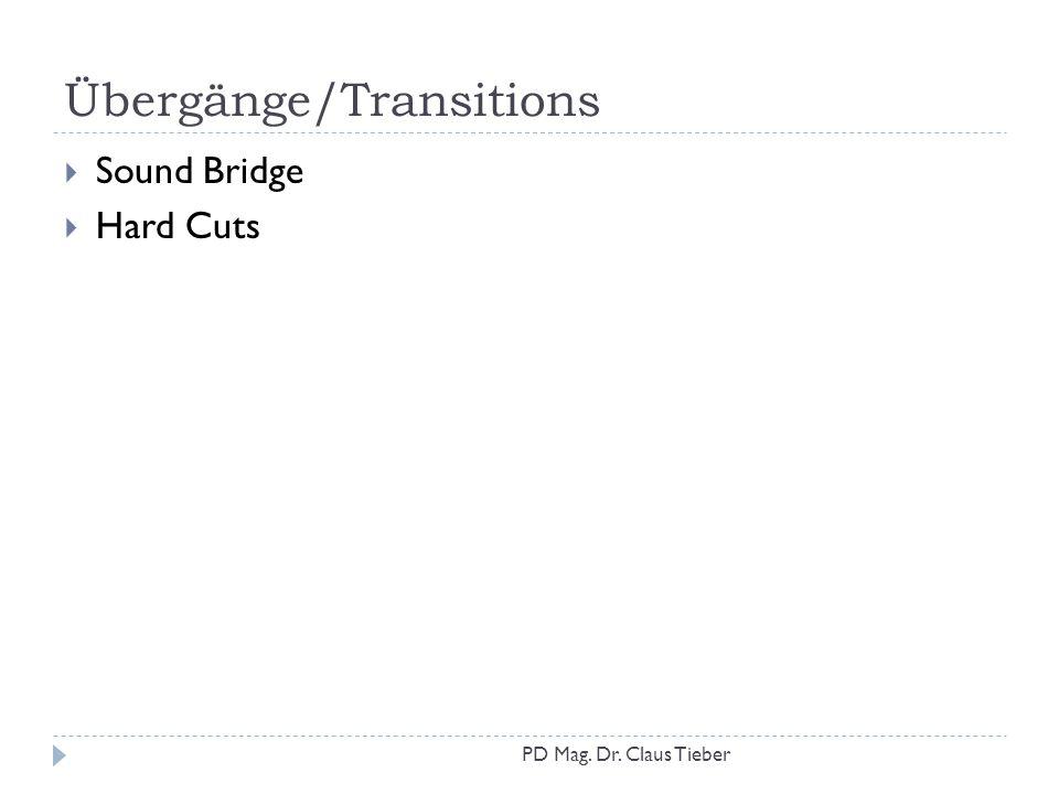 Übergänge/Transitions