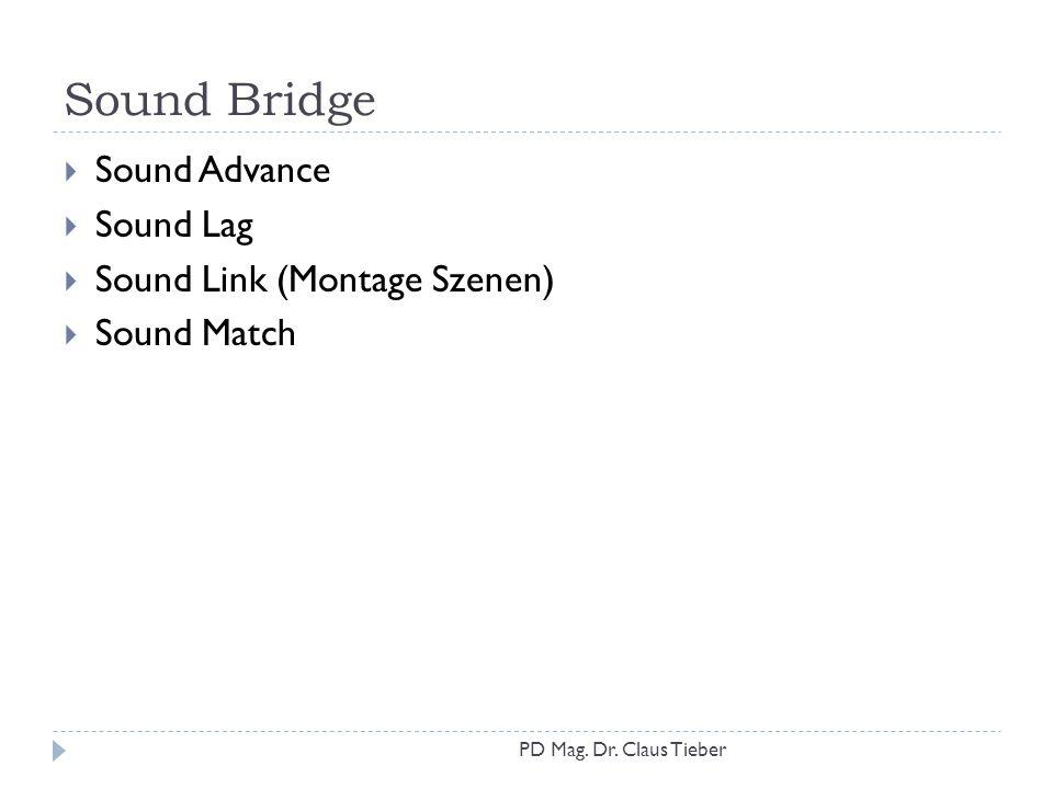 Sound Bridge Sound Advance Sound Lag Sound Link (Montage Szenen)