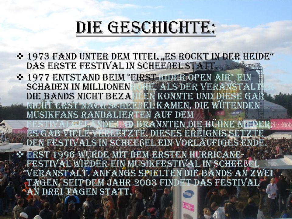 """Die Geschichte: 1973 fand unter dem Titel """"Es rockt in der Heide das erste Festival in Scheeßel statt."""