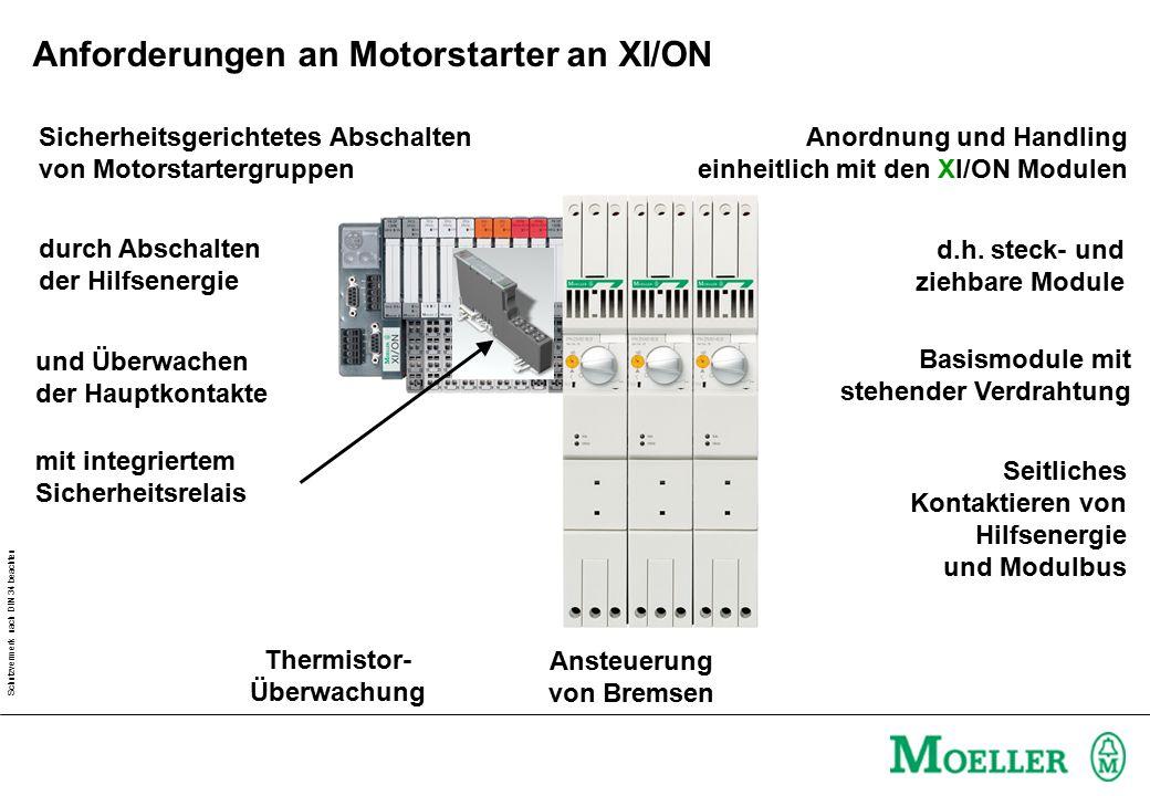 Anforderungen an Motorstarter an XI/ON