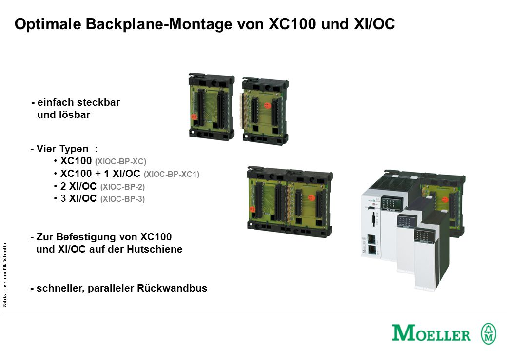 Optimale Backplane-Montage von XC100 und XI/OC