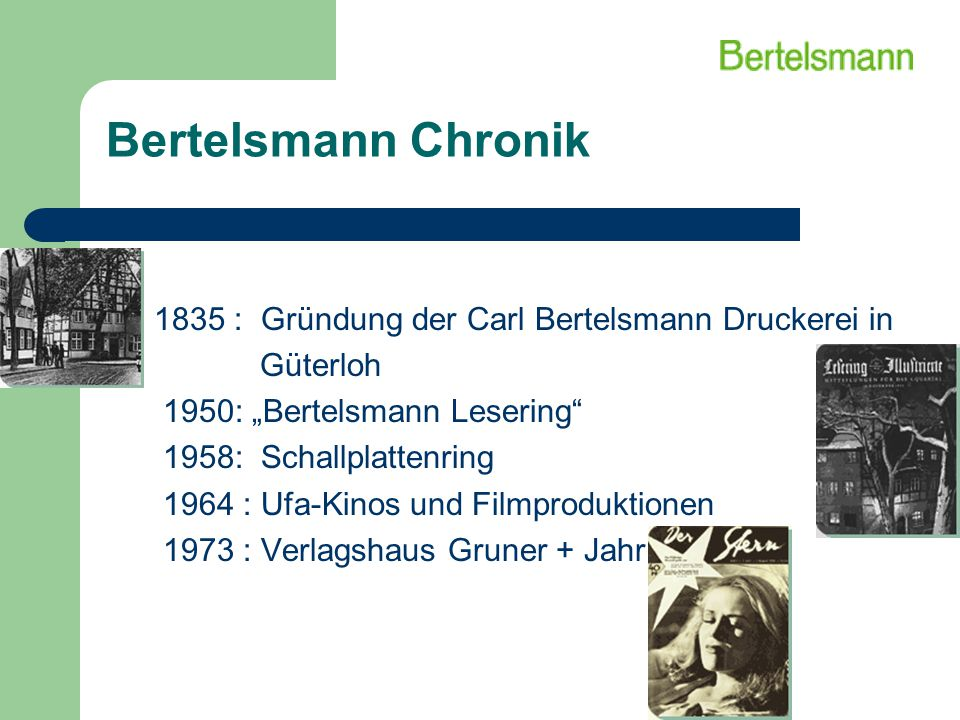 Bertelsmann Chronik 1835 : Gründung der Carl Bertelsmann Druckerei in