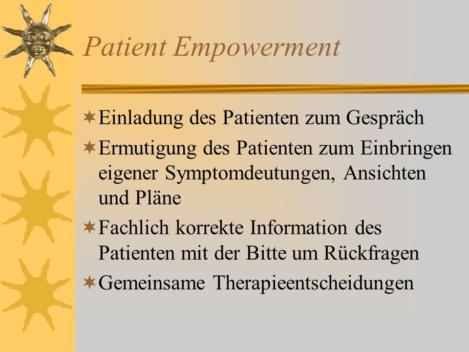 Patient Empowerment Einladung des Patienten zum Gespräch