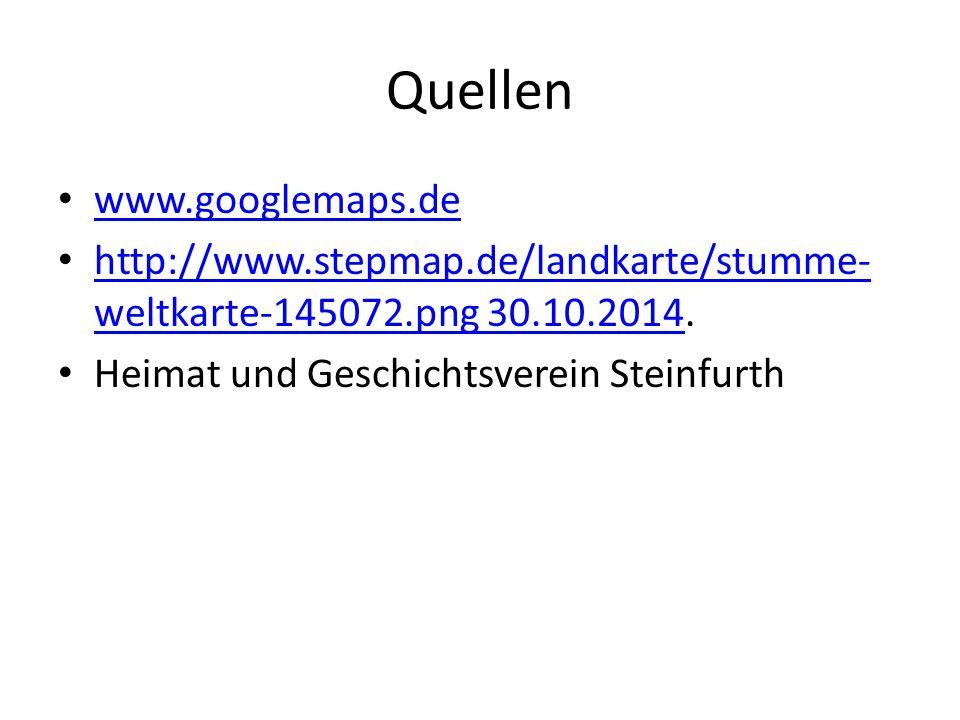 Quellen www.googlemaps.de