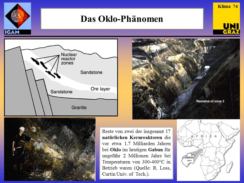 Das Oklo-Phänomen http://www.oklo.curtin.edu.au/index.cfm