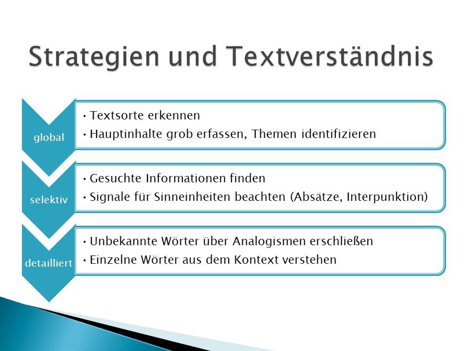 Strategien und Textverständnis