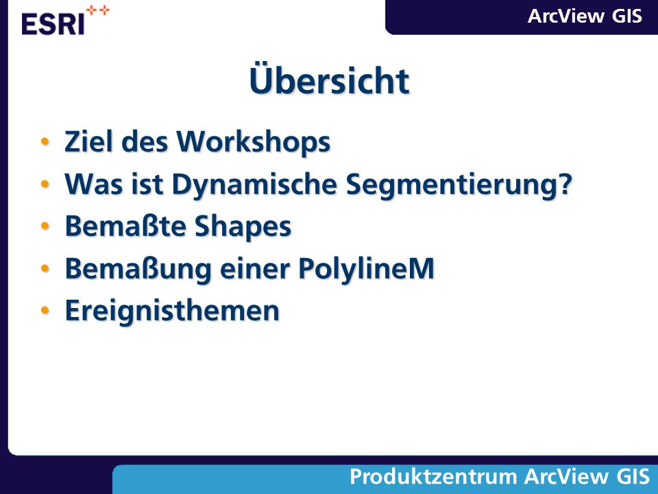 Übersicht Ziel des Workshops Was ist Dynamische Segmentierung