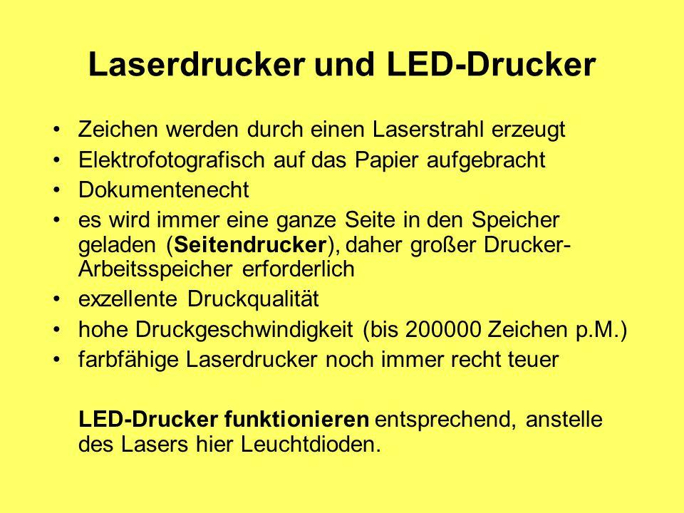 Laserdrucker und LED-Drucker