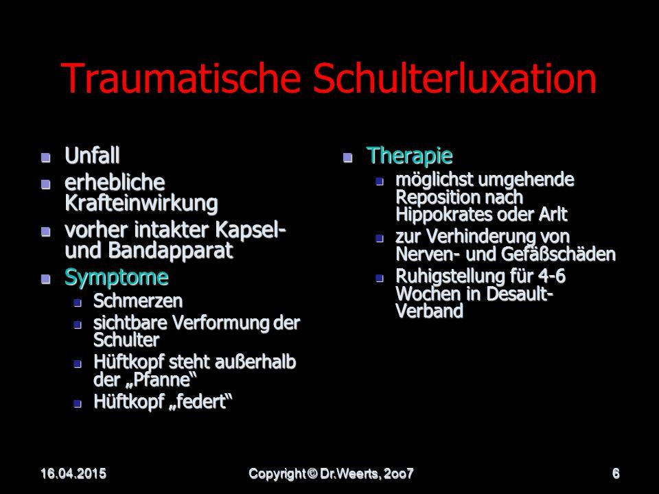 Traumatische Schulterluxation