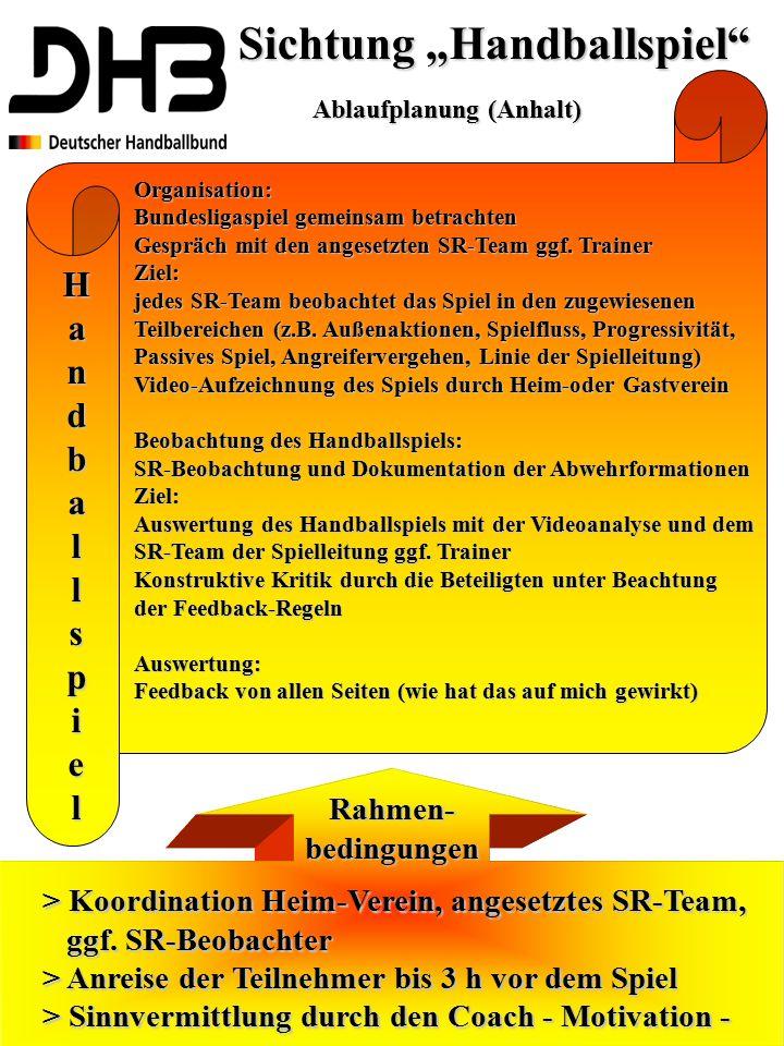 """Sichtung """"Handballspiel"""