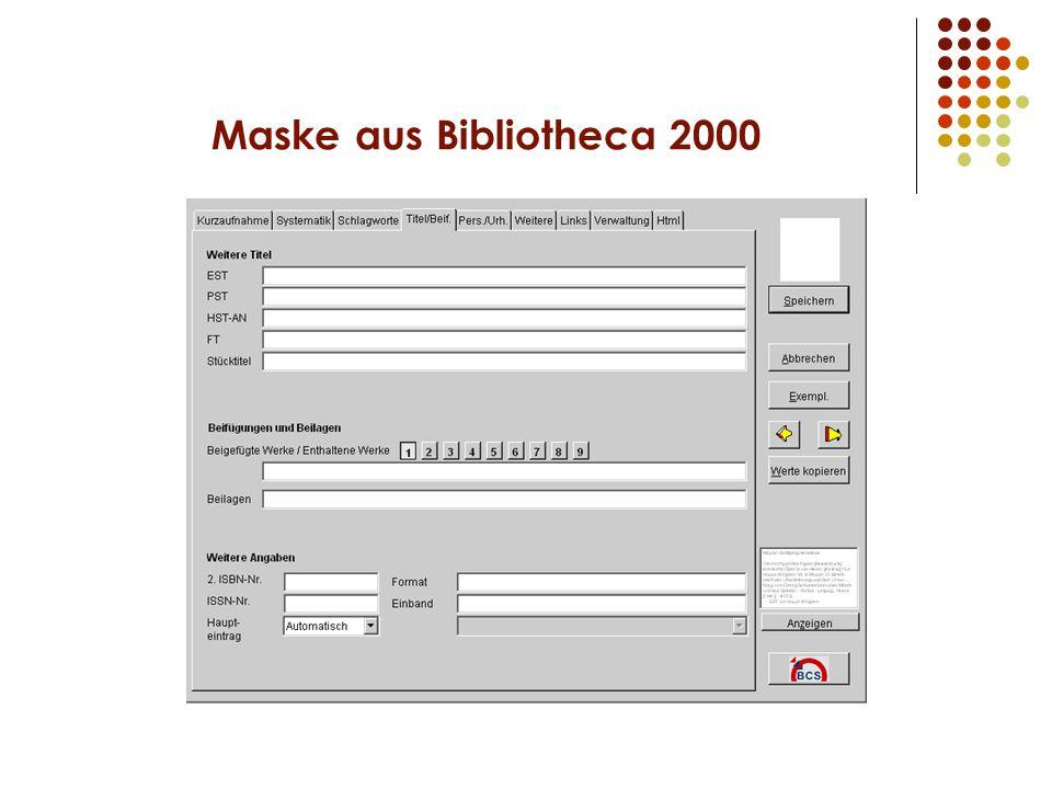 Maske aus Bibliotheca 2000