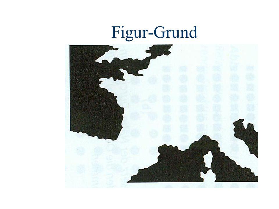 Figur-Grund Das Bild um 90 Grad gedreht kommt uns schon bekannter vor. Ein Teil Europas ist hier abgebildet.