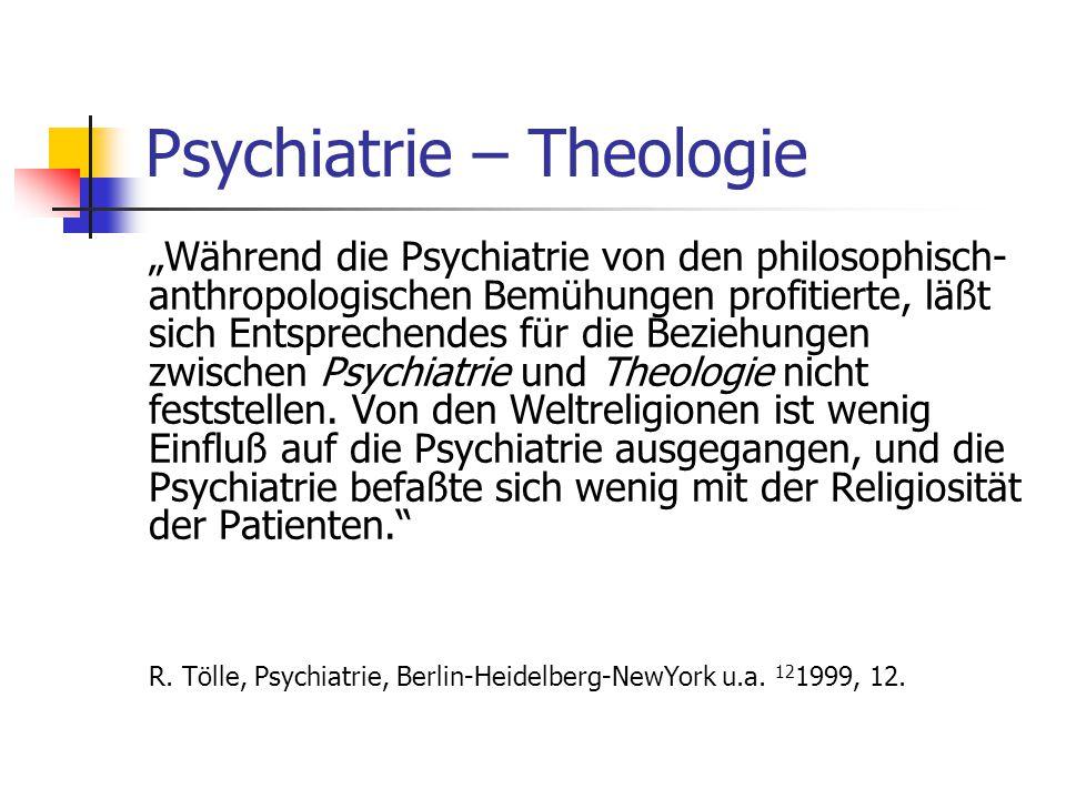 Psychiatrie – Theologie