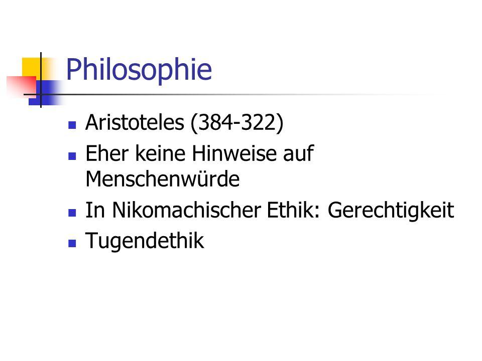 Philosophie Aristoteles (384-322)