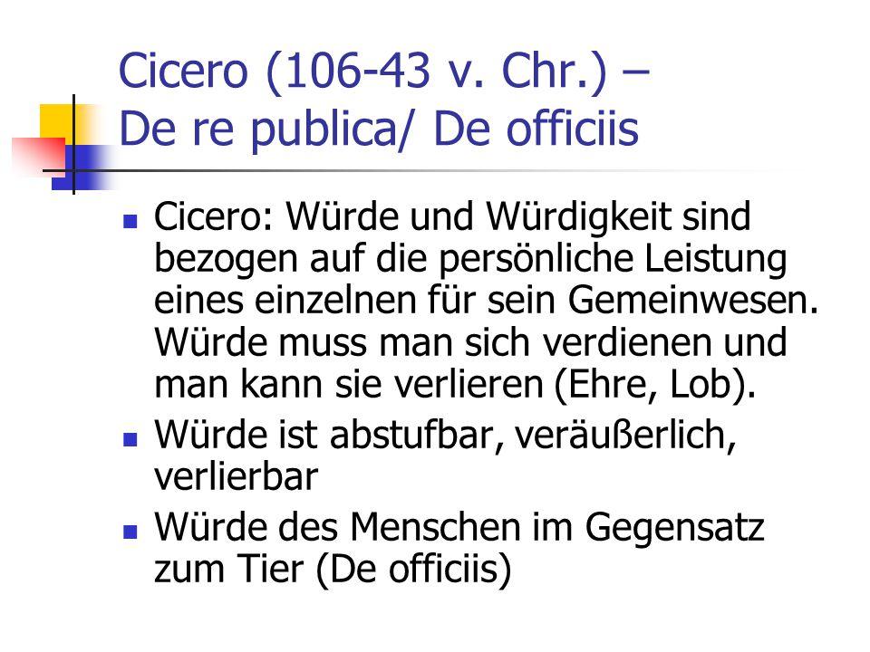 Cicero (106-43 v. Chr.) – De re publica/ De officiis