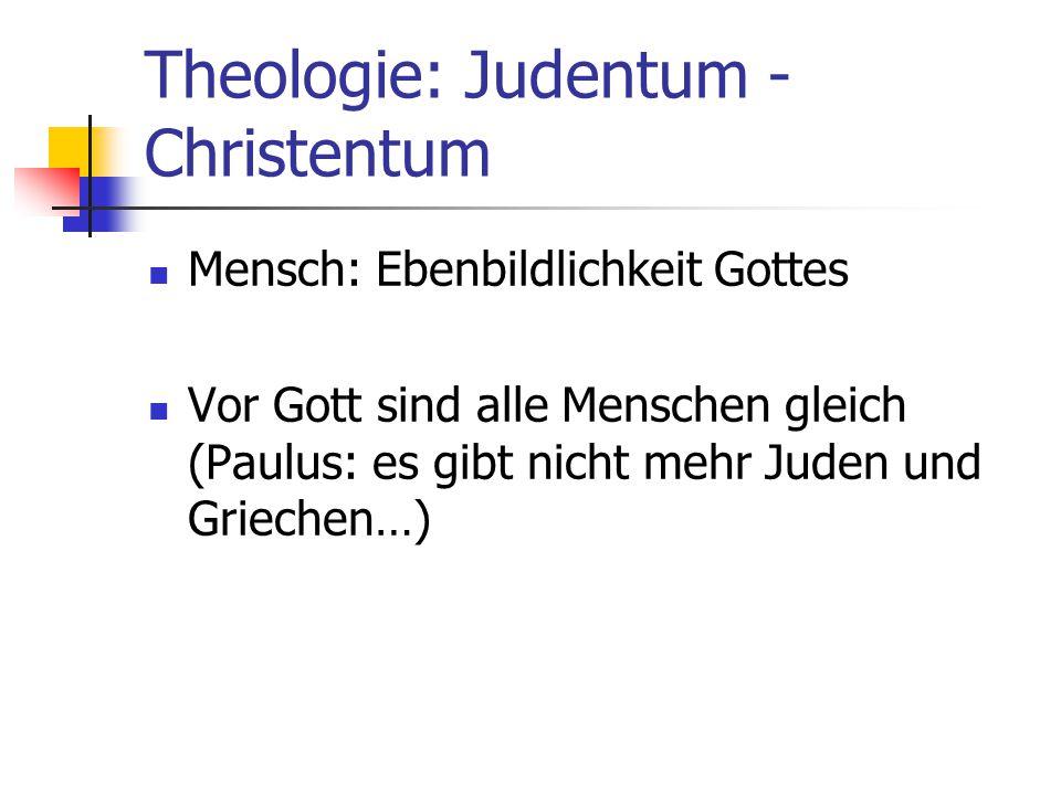 Theologie: Judentum - Christentum