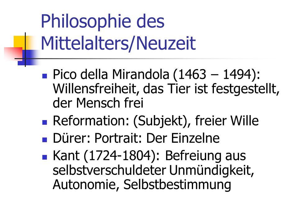 Philosophie des Mittelalters/Neuzeit