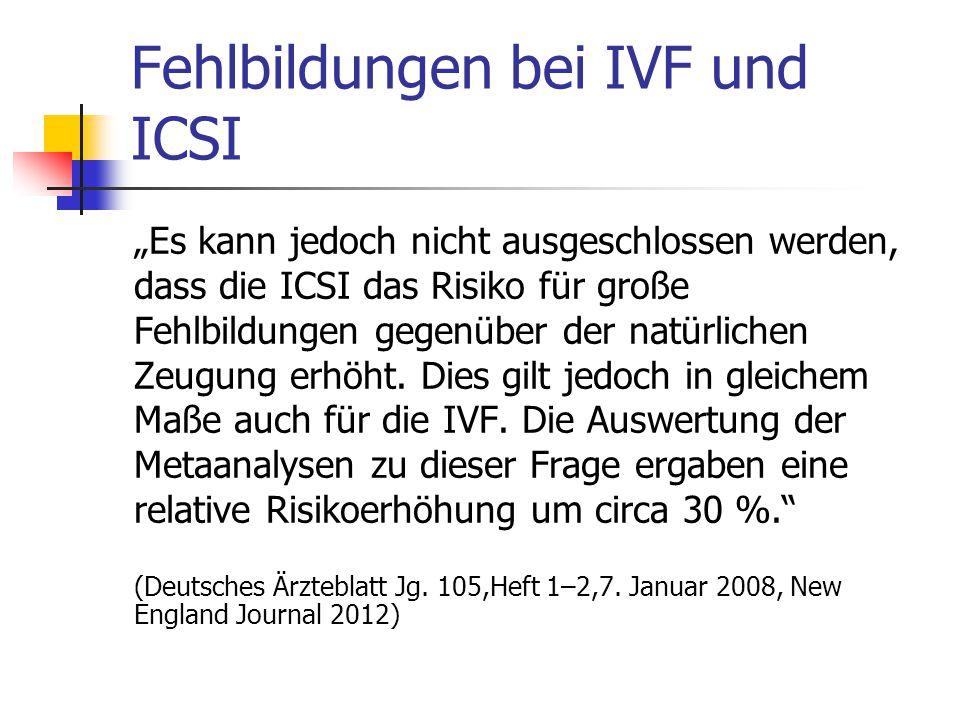 Fehlbildungen bei IVF und ICSI