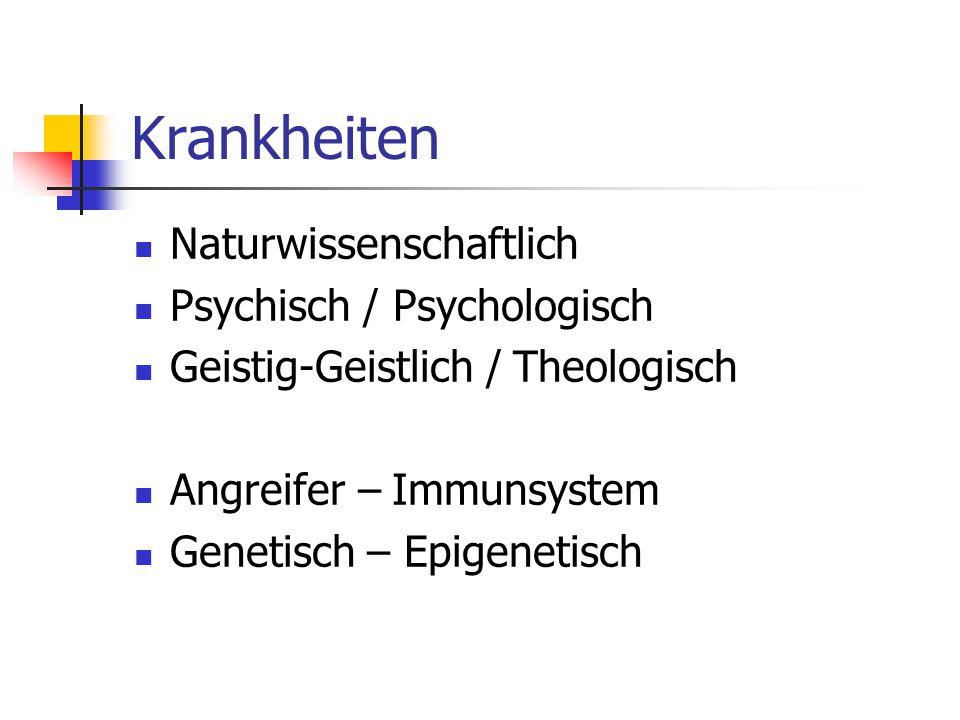 Krankheiten Naturwissenschaftlich Psychisch / Psychologisch