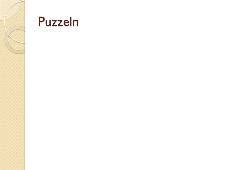 Puzzeln