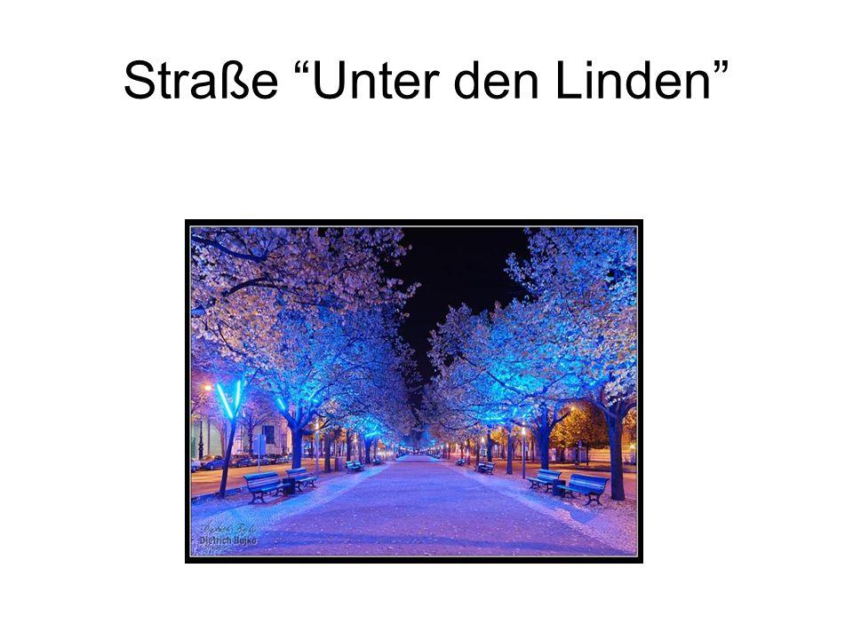 Straße Unter den Linden