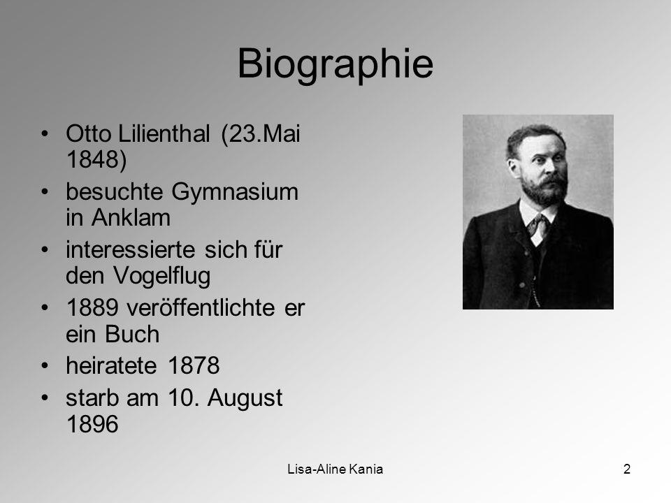 Biographie Otto Lilienthal (23.Mai 1848) besuchte Gymnasium in Anklam