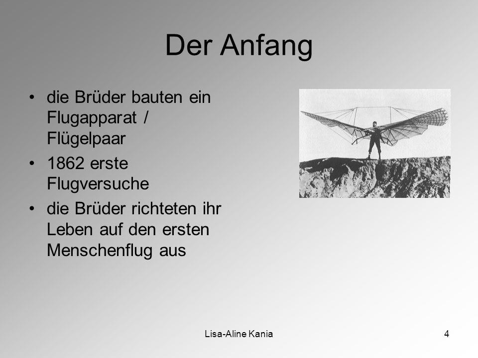 Der Anfang die Brüder bauten ein Flugapparat / Flügelpaar