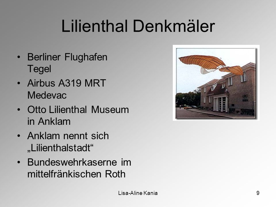 Lilienthal Denkmäler Berliner Flughafen Tegel Airbus A319 MRT Medevac