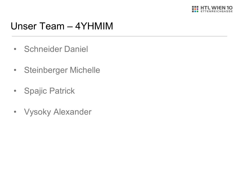 Unser Team – 4YHMIM Schneider Daniel Steinberger Michelle