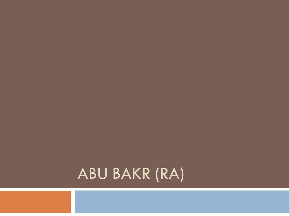 Abu Bakr (ra)