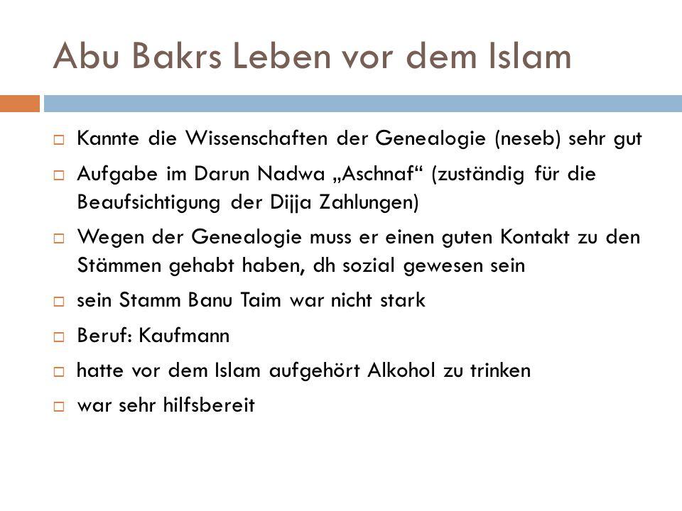 Abu Bakrs Leben vor dem Islam