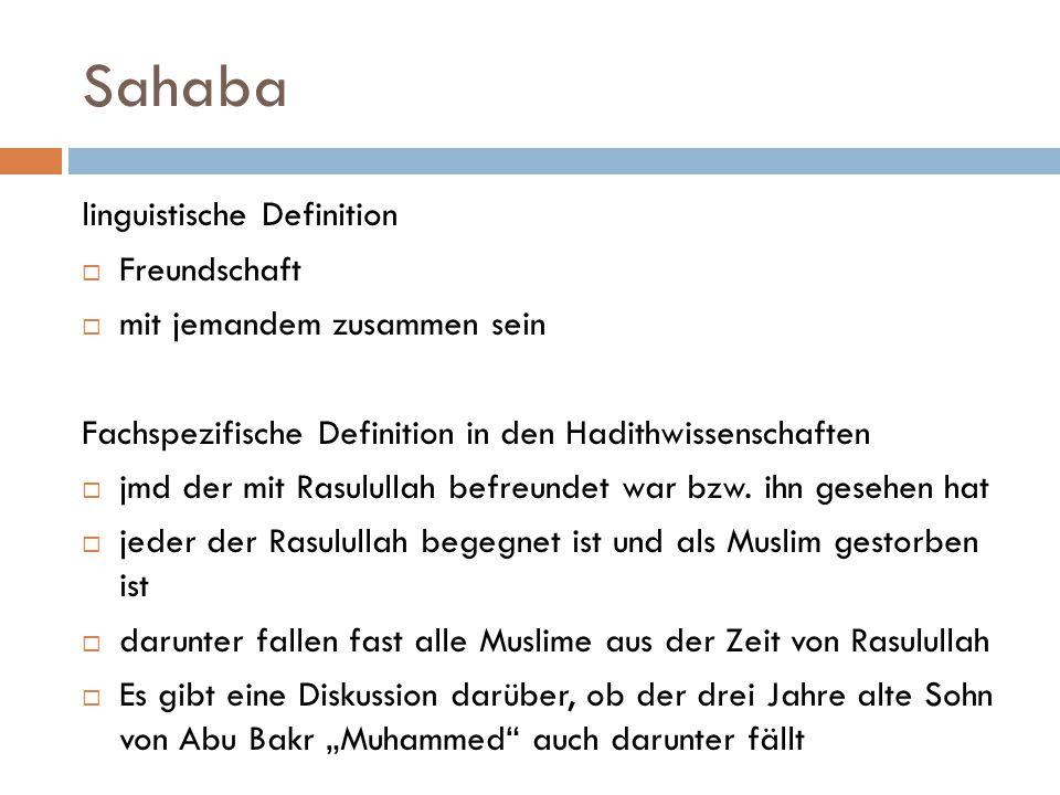 Sahaba linguistische Definition Freundschaft