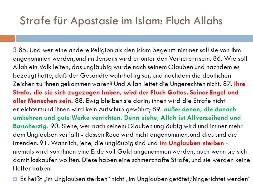 Strafe für Apostasie im Islam: Fluch Allahs