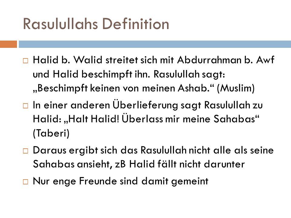 Rasulullahs Definition