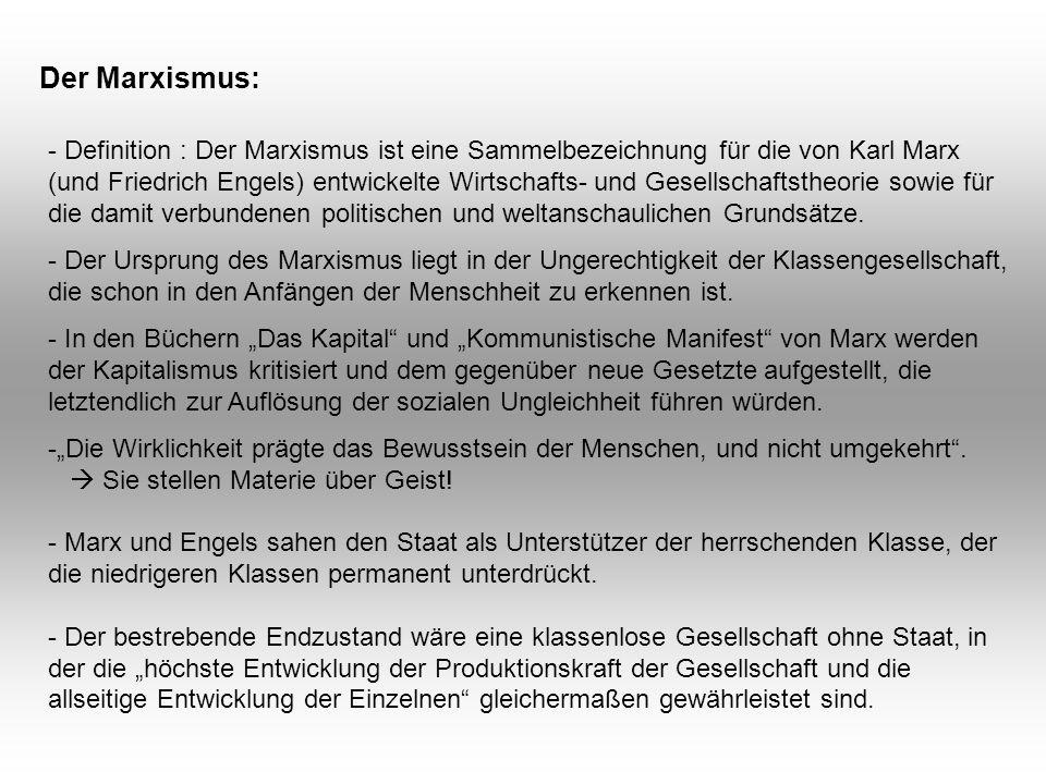 Der Marxismus: