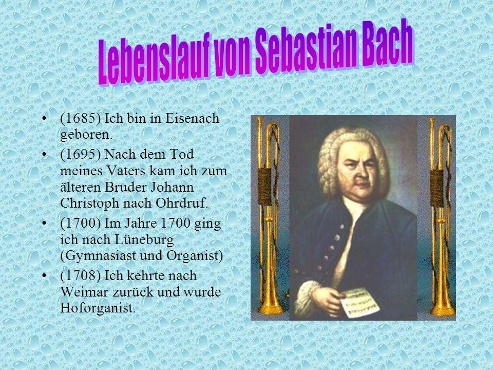 2 lebenslauf von sebastian bach - Johann Sebastian Bach Lebenslauf