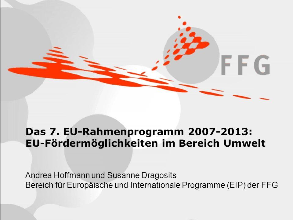 Das 7. EU-Rahmenprogramm 2007-2013: