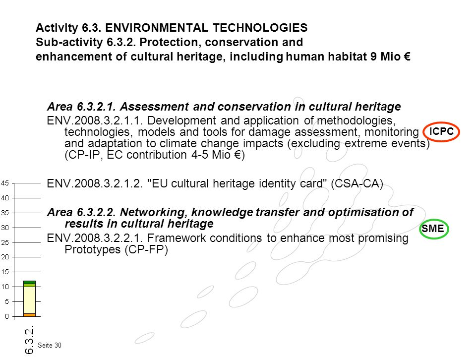 Area 6.3.2.1. Assessment and conservation in cultural heritage