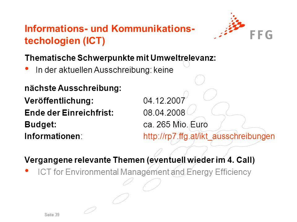 Informations- und Kommunikations- techologien (ICT)