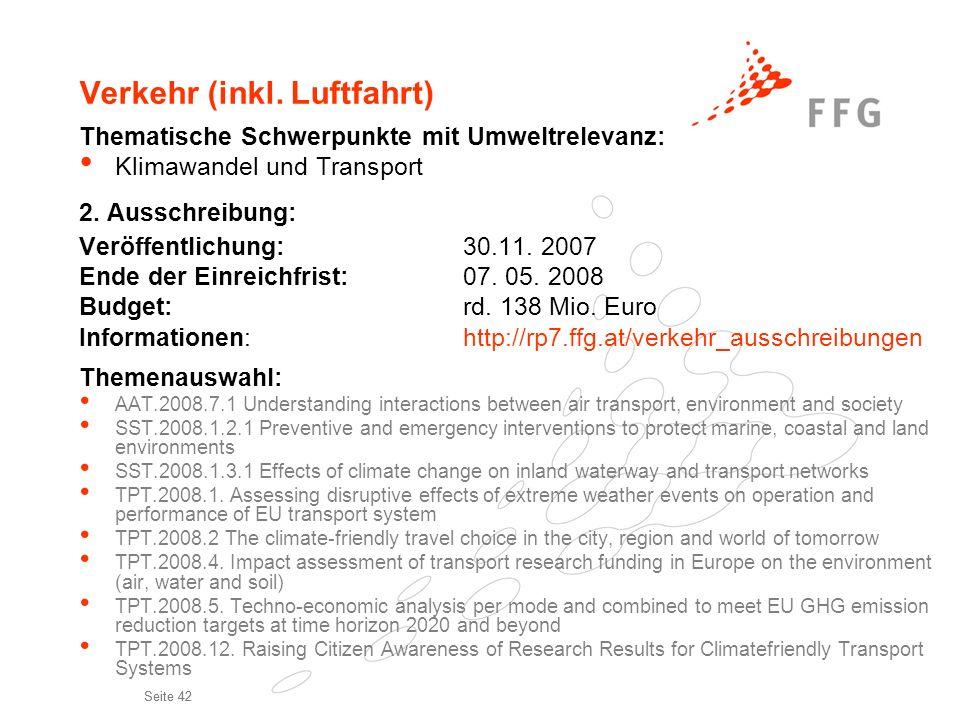 Verkehr (inkl. Luftfahrt)