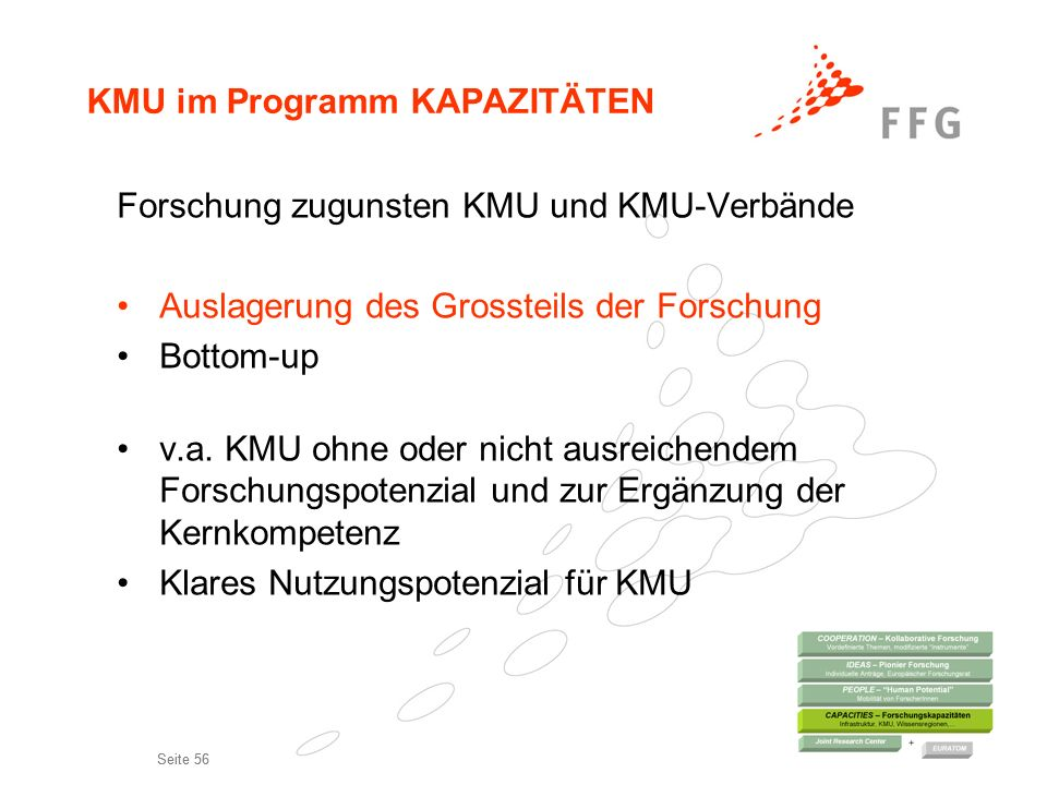 KMU im Programm KAPAZITÄTEN