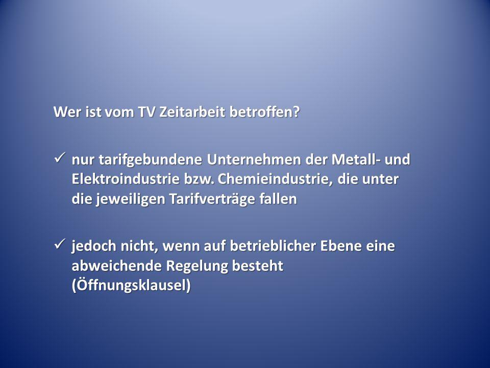Wer ist vom TV Zeitarbeit betroffen