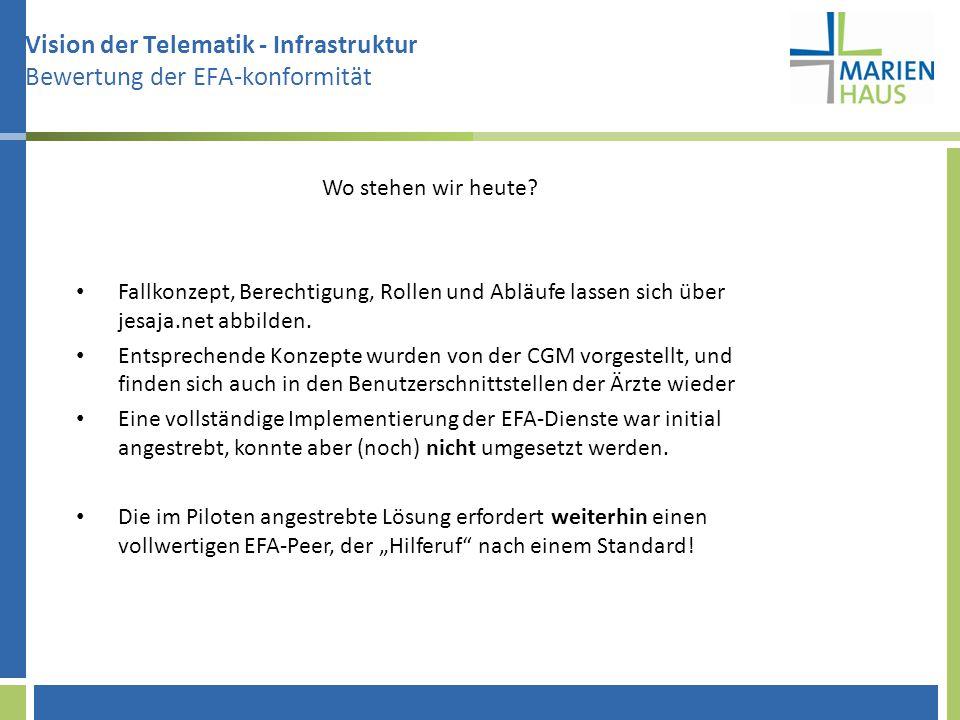 Vision der Telematik - Infrastruktur Bewertung der EFA-konformität