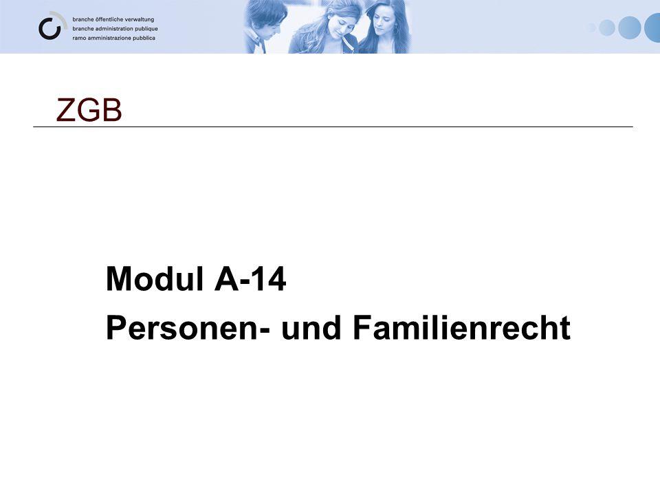Modul A-14 Personen- und Familienrecht