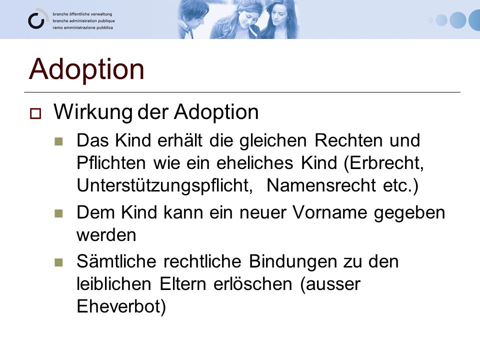 Adoption Wirkung der Adoption