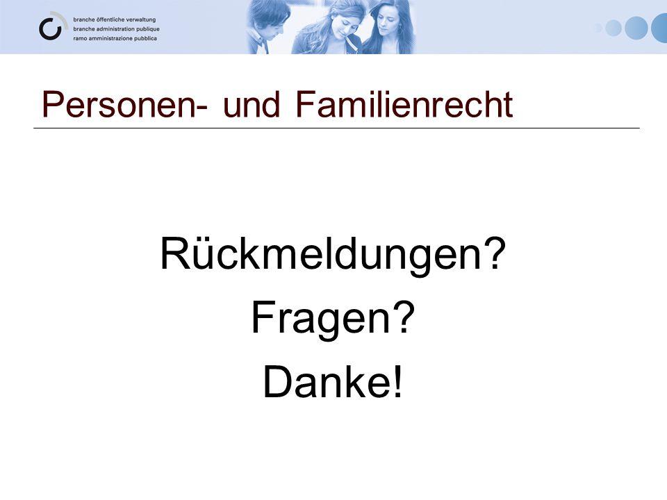 Personen- und Familienrecht