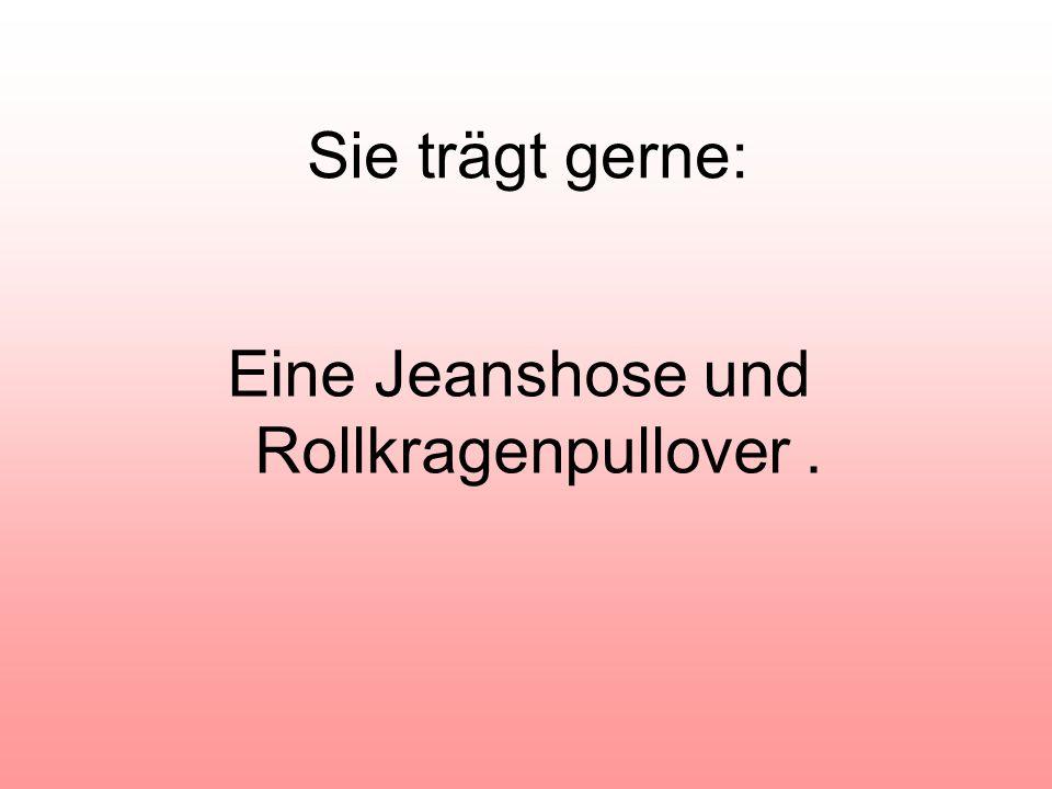 Eine Jeanshose und Rollkragenpullover .
